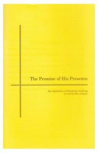 booklet -The Promise of His Presence